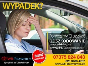 WB-Prawnicy odszkodowanie za wypadek samochodowy w UK